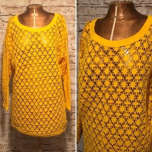 Vintage 1980s Fishnet Slouchy Top